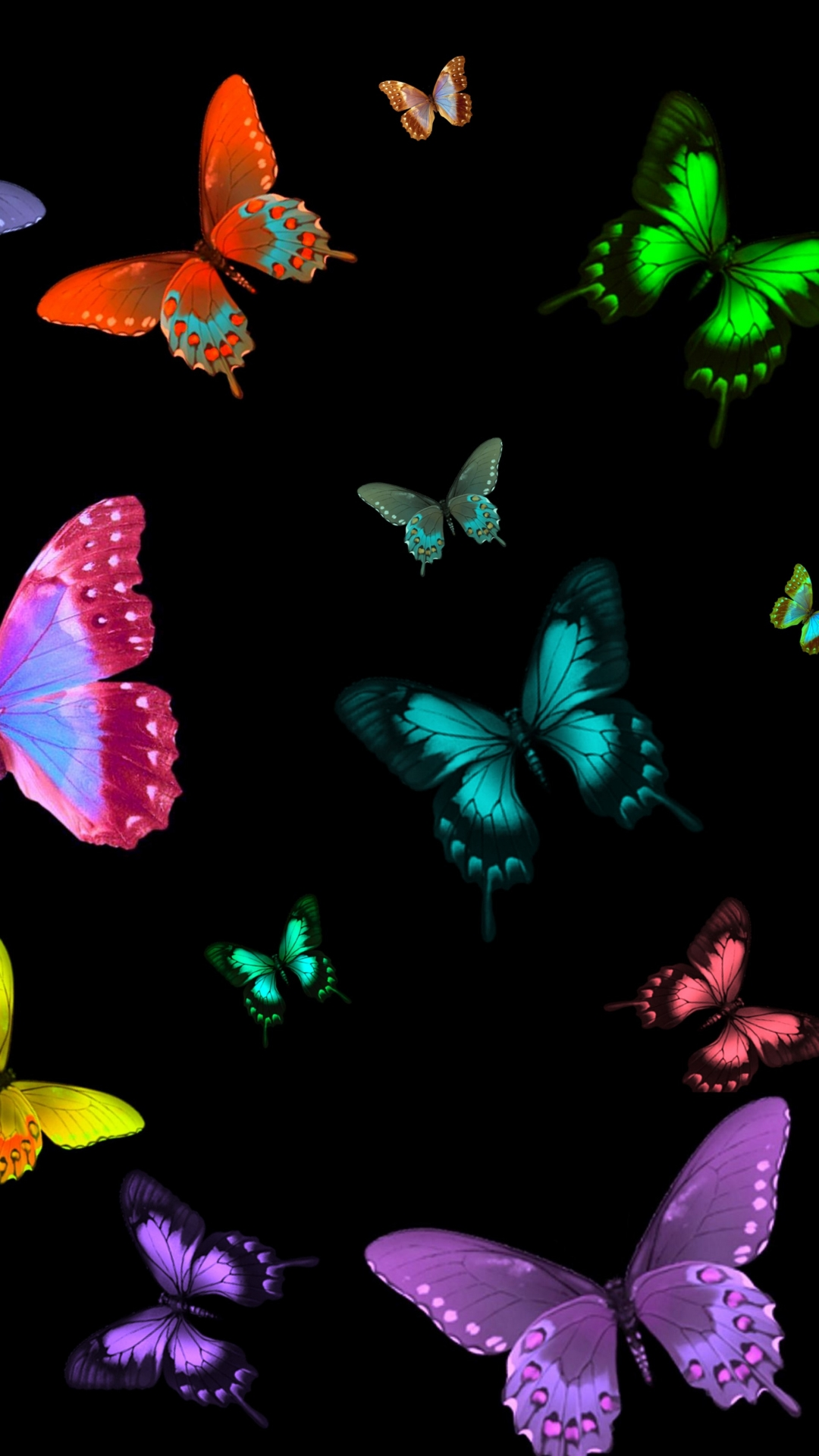 Butterflies On Black Background 985099 Hd Wallpaper Backgrounds Download