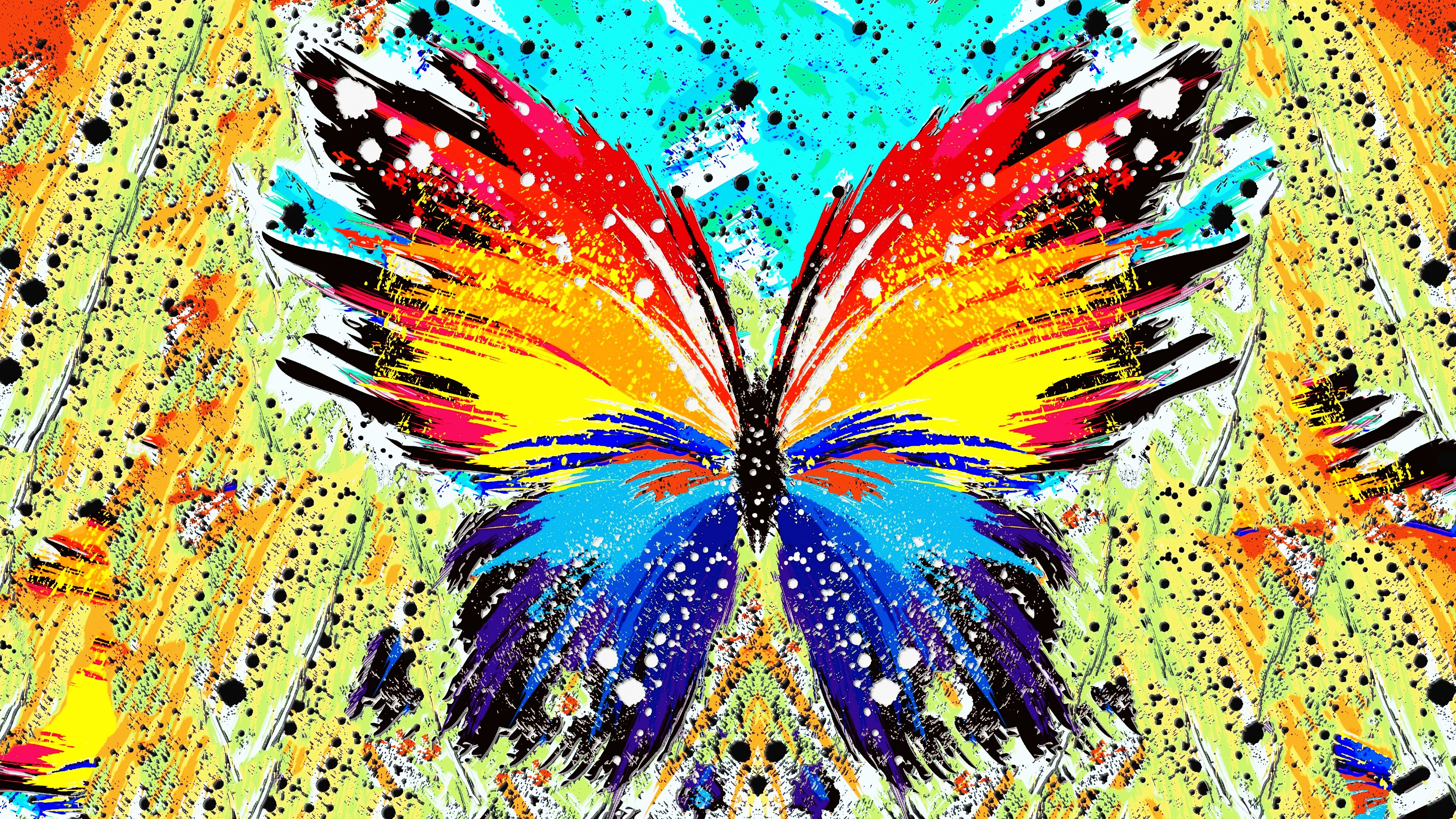 Abstract, Paint Splatter, Butterfly Wallpapers Hd / - Abstract Butterflies , HD Wallpaper & Backgrounds