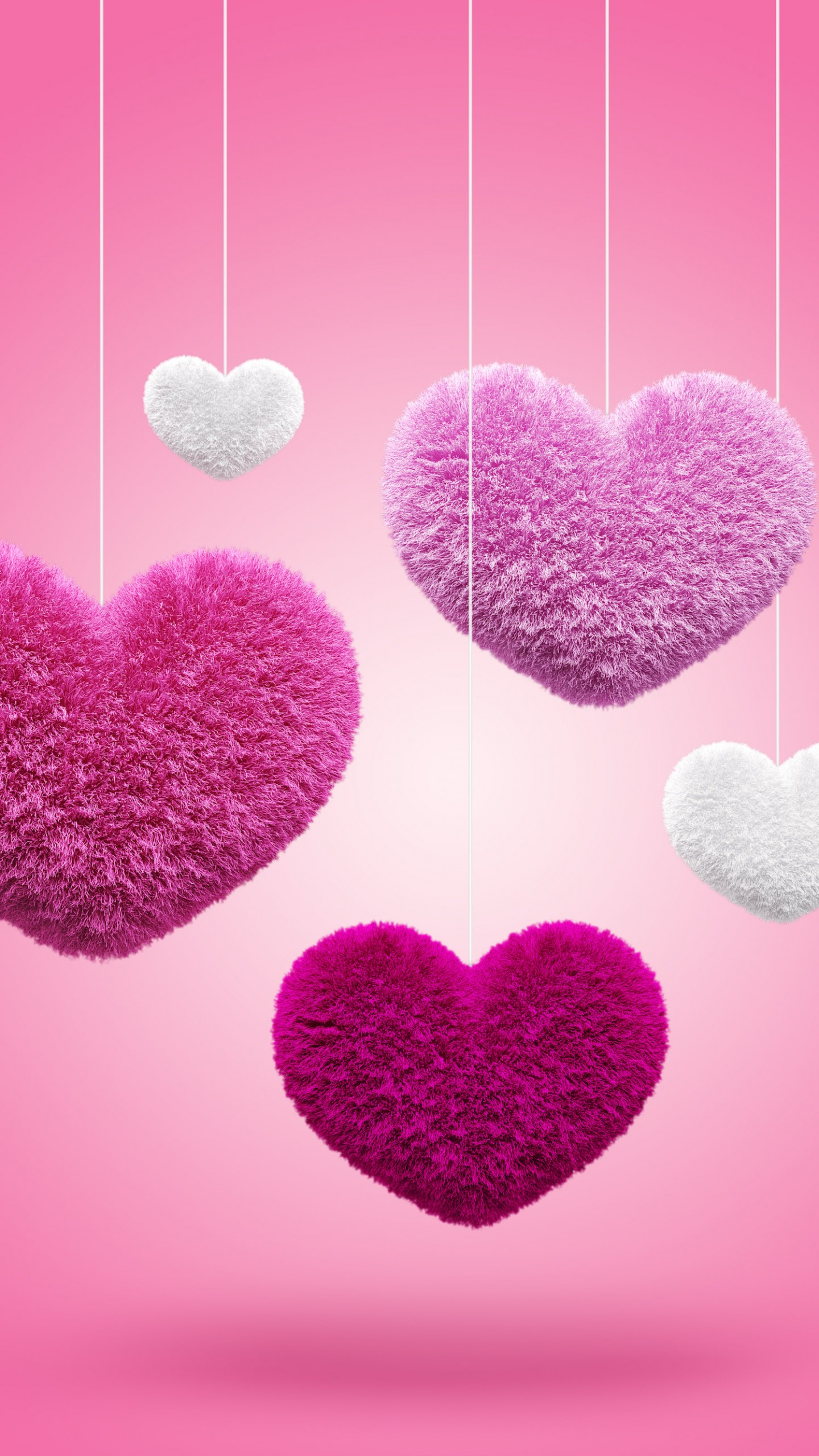Pink And Red Heart , HD Wallpaper & Backgrounds