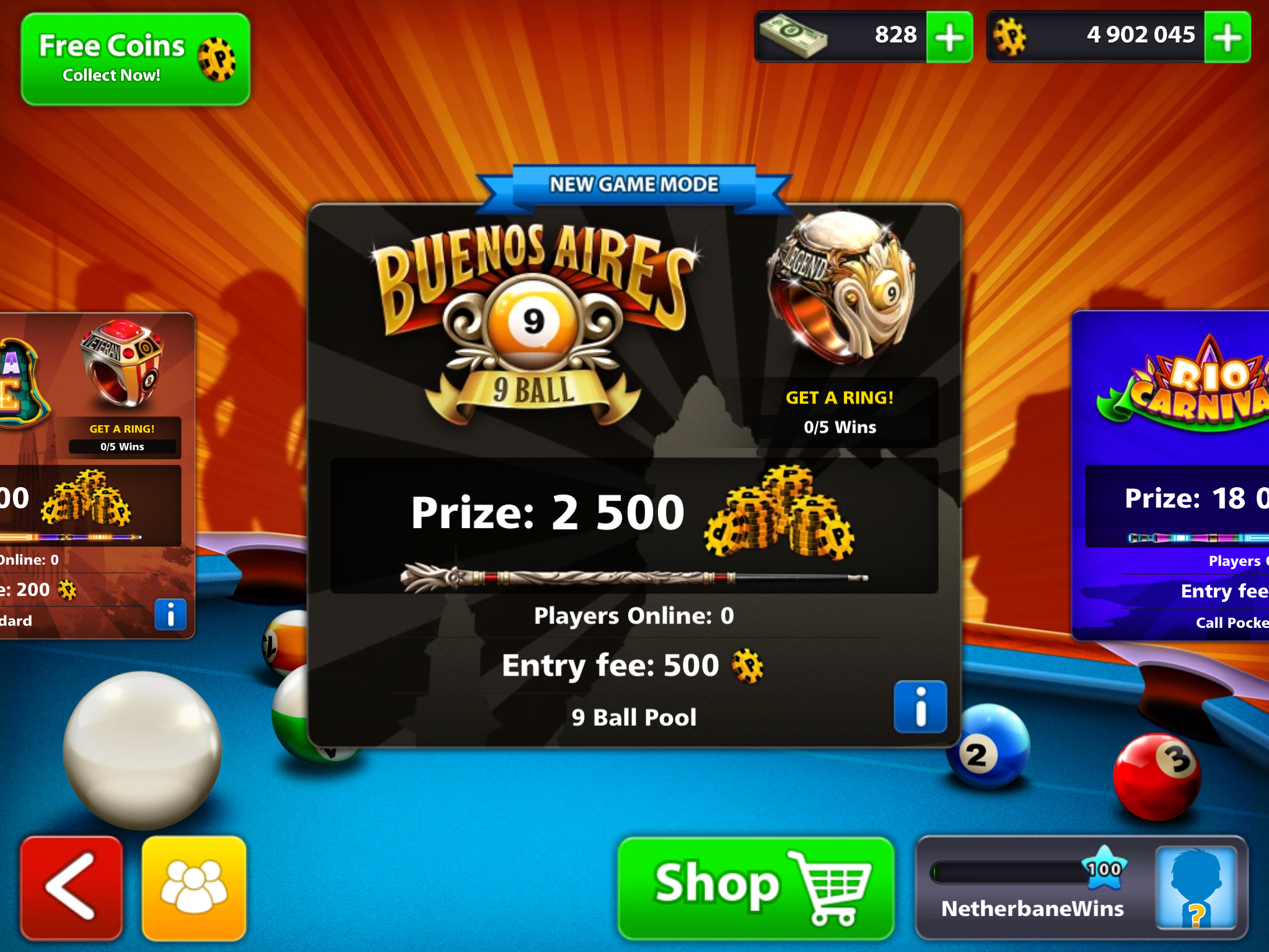 Buenos Aires Tournament 8 Ball Pool Events 988420 Hd