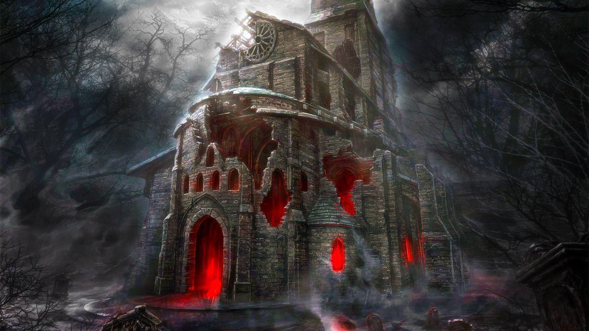 Halloween Horror House Hd Wallpaper Hd Wallpaper For Pc