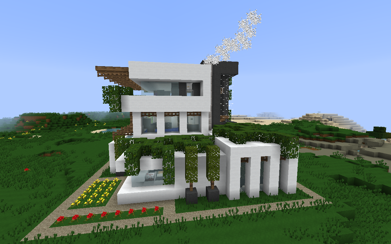 Minecraft Modern House Hd Wallpapers Download Free