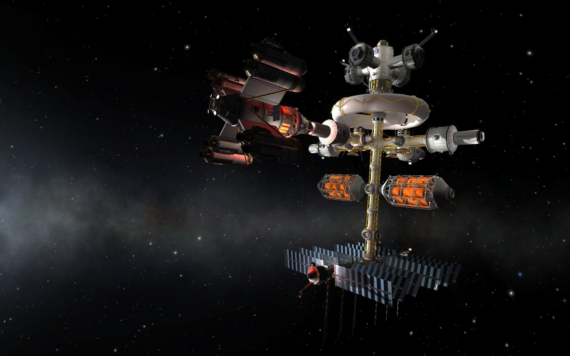 Kerbal Space Program Space Station Wallpaper Satellite