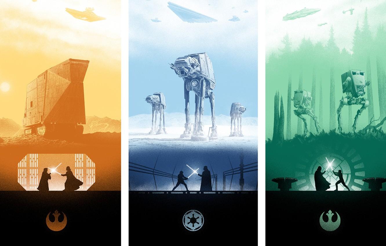 Photo Wallpaper Star Wars Poster The Empire Strikes Star Wars