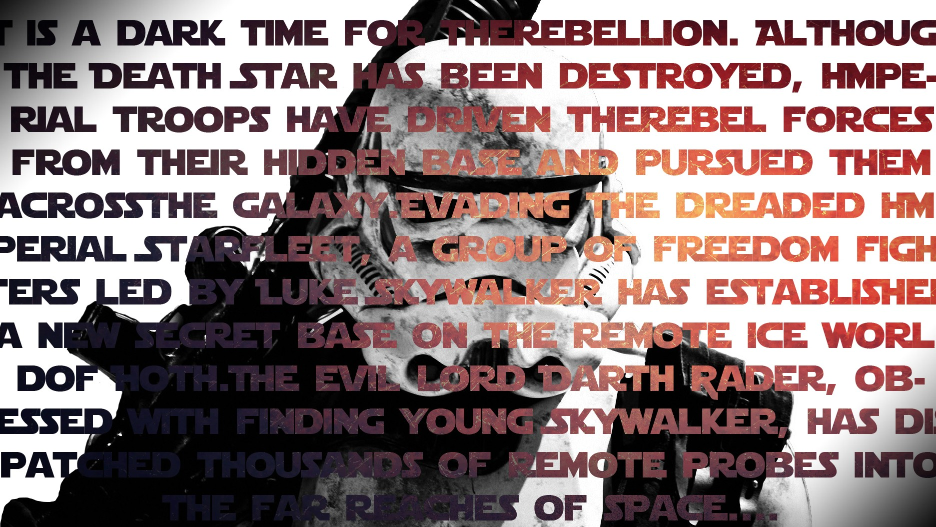 Stormtrooper, Star Wars, Typography, Double Exposure, - Star Wars Font , HD Wallpaper & Backgrounds