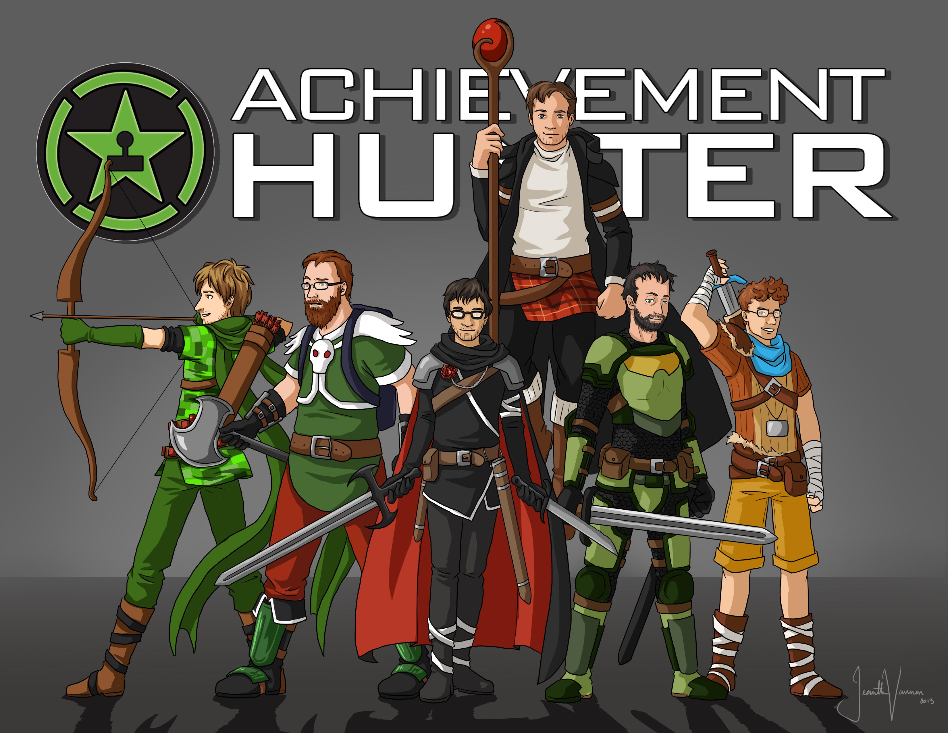 Achievement Hunter Wallpaper - Achievement Hunter Minecraft Characters , HD Wallpaper & Backgrounds